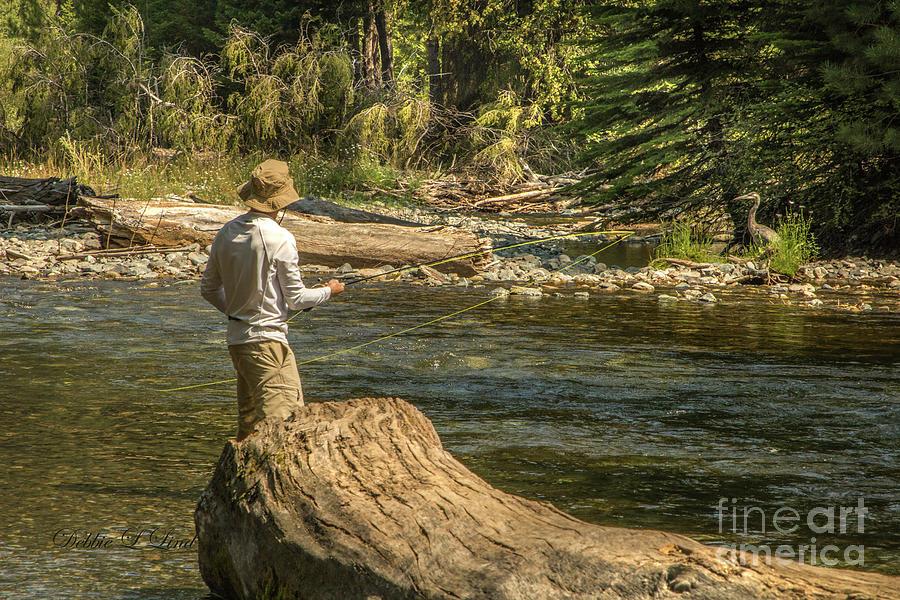 Fishermen Fishing The Wallowa River Photograph