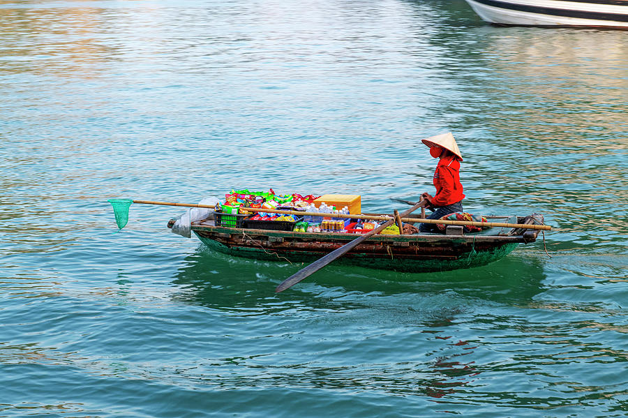 Fishing boat in Halong Bay by Dubi Roman