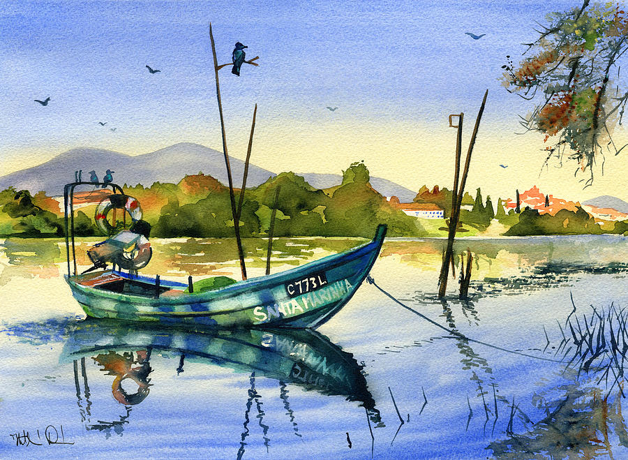Fishing Boat on the River Minho by Dora Hathazi Mendes