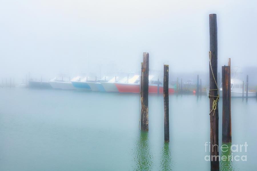 Fishing Boats in Morning Fog Horiz Posts by Dan Carmichael