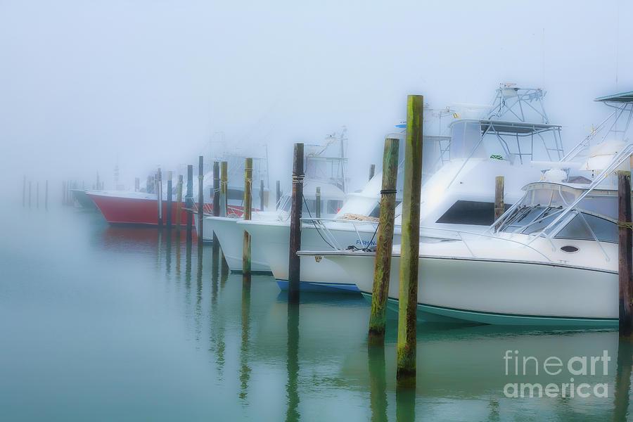 Fishing Boats in Morning Fog Horiz RS by Dan Carmichael