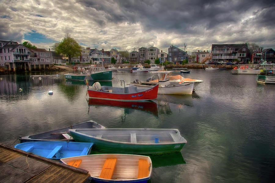 Fishing Boats In Rockport Harbor Photograph
