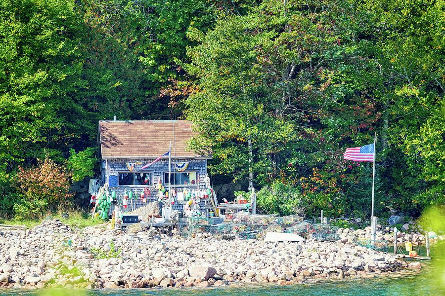 Fishing cabin by Paul Freidlund