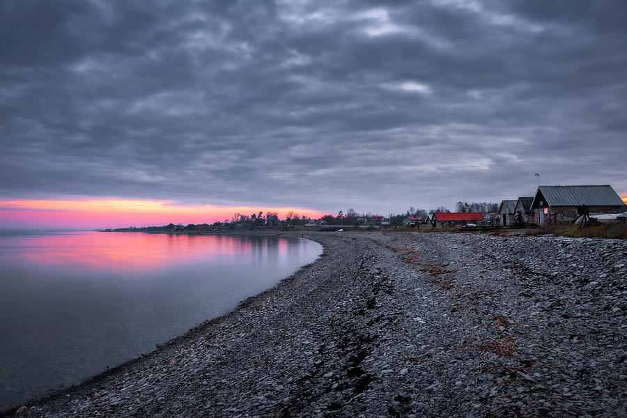 Fishing Cottages In Djupvik, Oeland, Baltic Sea Photograph