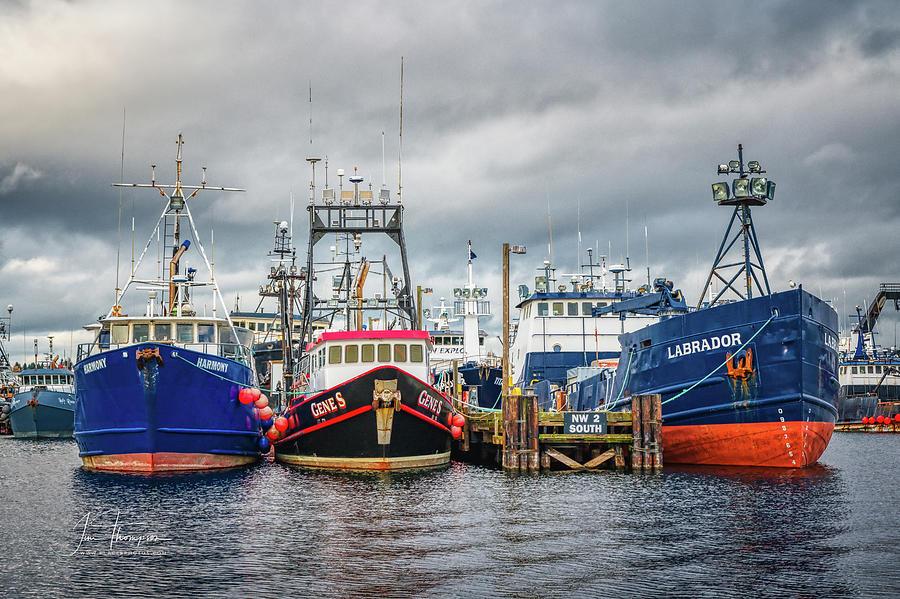 Fishing Boats Photograph - Fishing Fleet by Jim Thompson