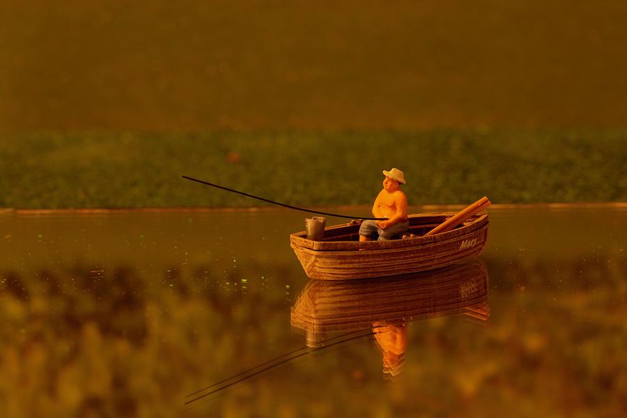 Fishing In Autumn Photograph