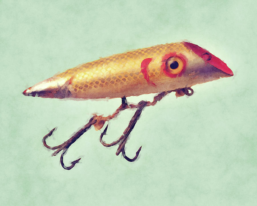 Fishing Lure - The Stare by Flo Karp