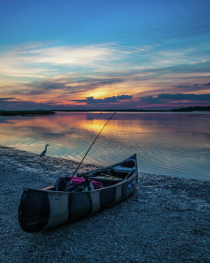 Fishing on the Salt Marsh by Lon Dittrick