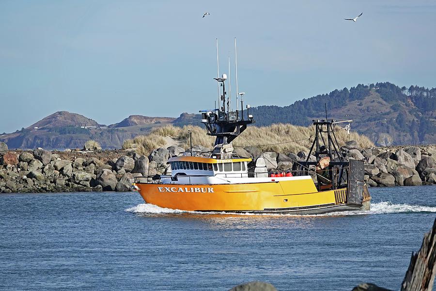 Fishing Trawler In Oregon Photograph