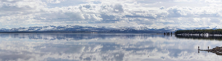 Fishing Yellowstone Lake Pano by Max Waugh