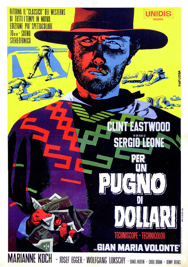 fistful Of Dollars Movie Poster 1964 Mixed Media