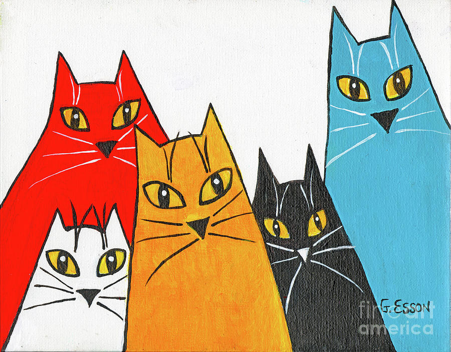 Five Fun Cats by Genevieve Esson