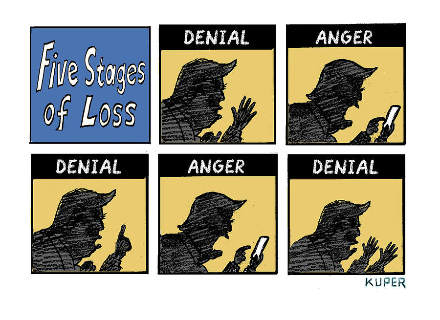 Five Stages of Loss Drawing by Peter Kuper