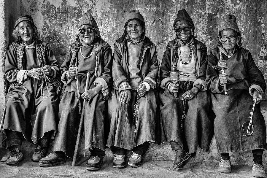 Five Women Monochrome Photograph