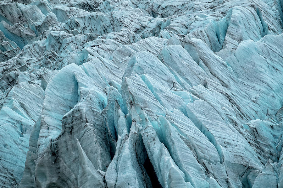 Fjallsjokull Crevasses by Catherine Reading