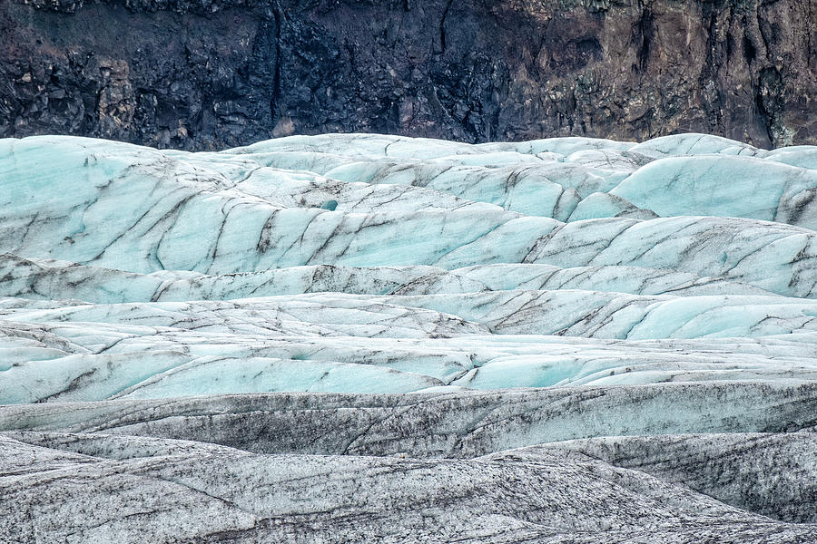 Fjallsjokull Layers by Catherine Reading
