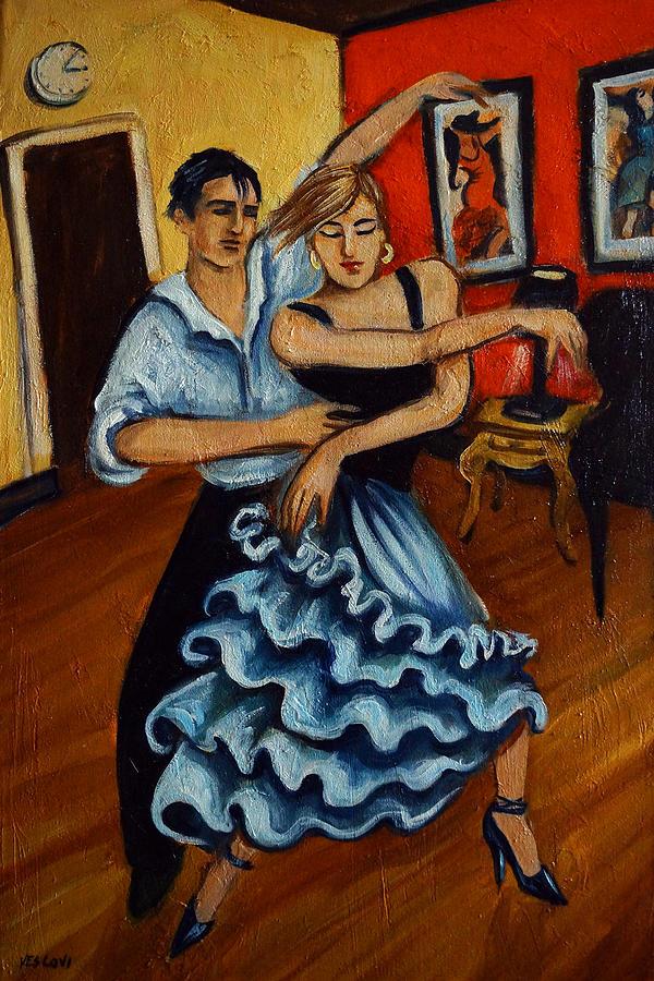 Dancers Painting - Flamenco by Valerie Vescovi