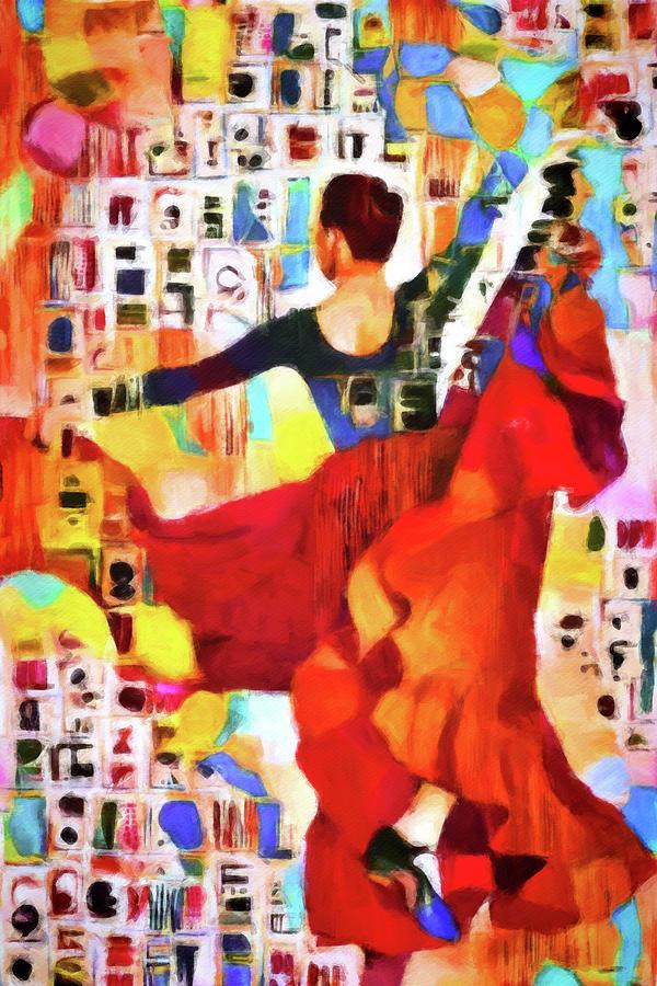 Flamenco Baile Digital Art