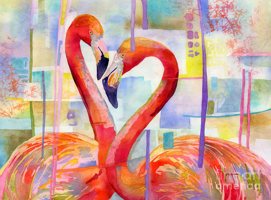 Flamingo Love Painting