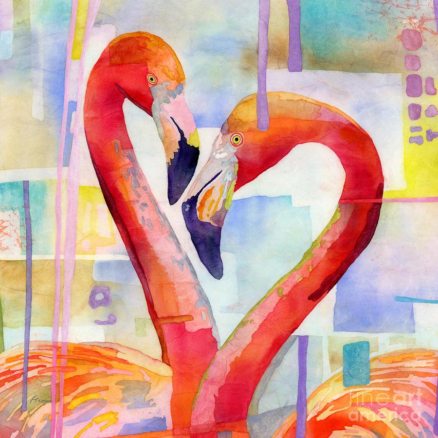 Flamingo Love-square Format Painting