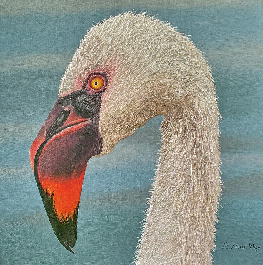 Bird Painting - Flamingo by Russell Hinckley