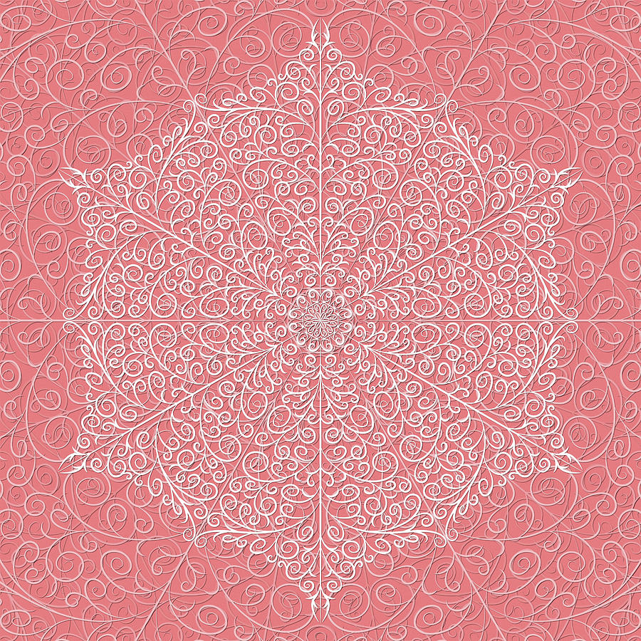 Flamingo Swirl by Becky Titus