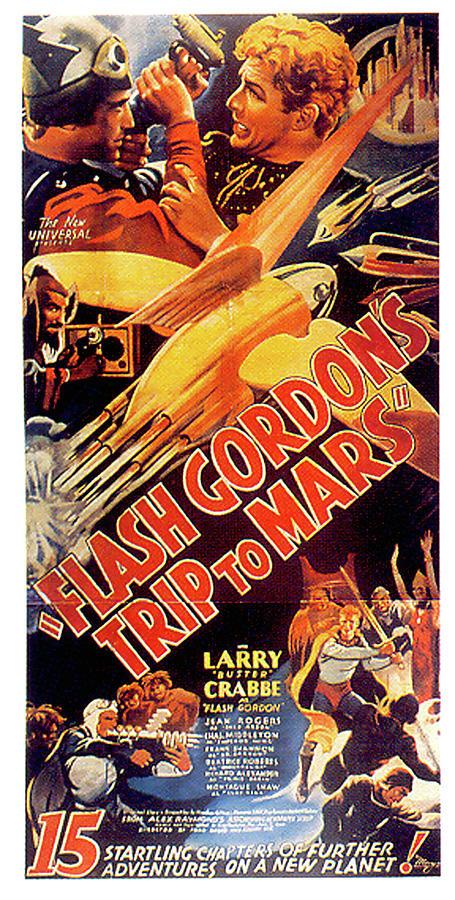 flash Gordons Trip To Mars Movie Poster 1938 Mixed Media