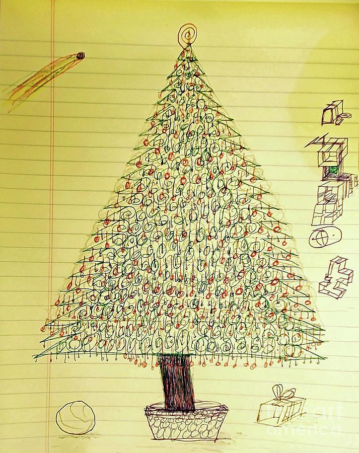 Flat Christmas Drawing