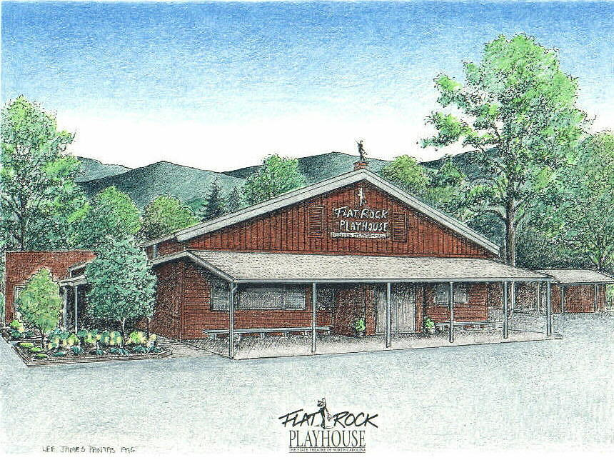 Flat Rock Playhouse Drawing by Lee Pantas