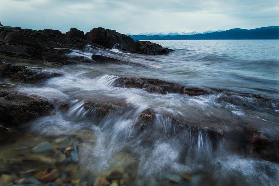 Flathead Lake Photograph - Flathead Lake Winter Morning 2 by Matt Hammerstein