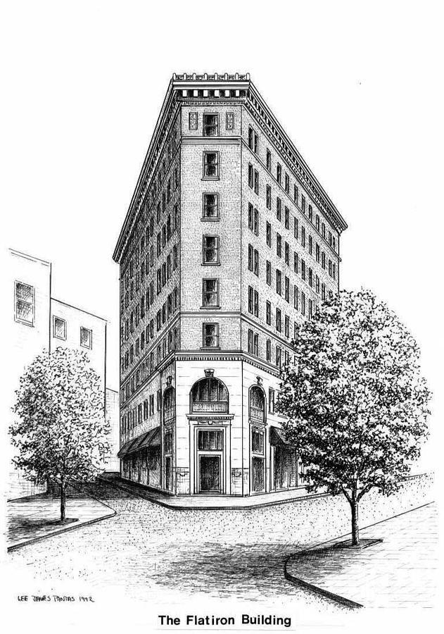 Flatiron Building Drawing by Lee Pantas