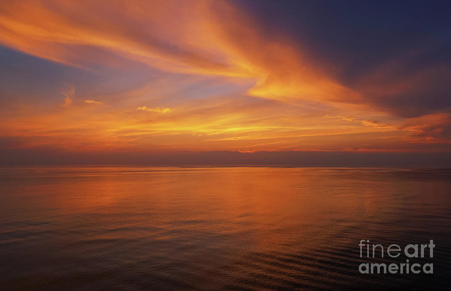 Flickering Flames Of Sunset Photograph