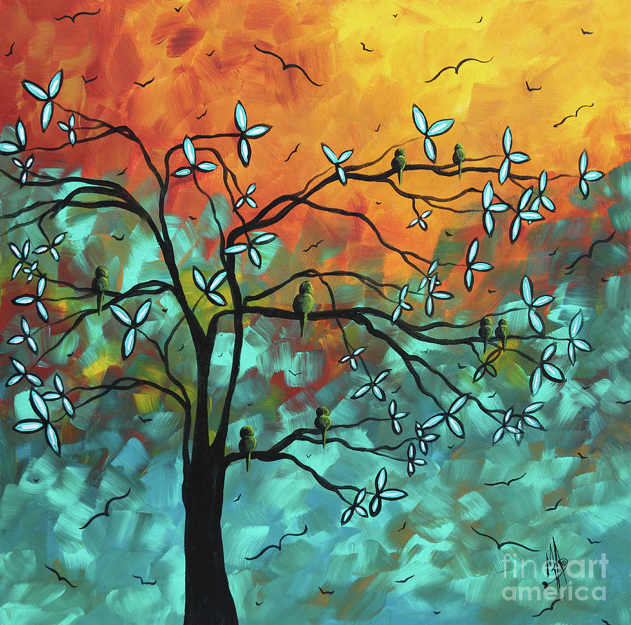 Flight of Freedom Original Landscape Bird Tree Painting by Megan Duncanson by Megan Duncanson