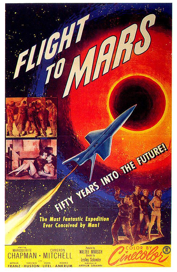 flight To Mars Movie Poster 1951 Mixed Media