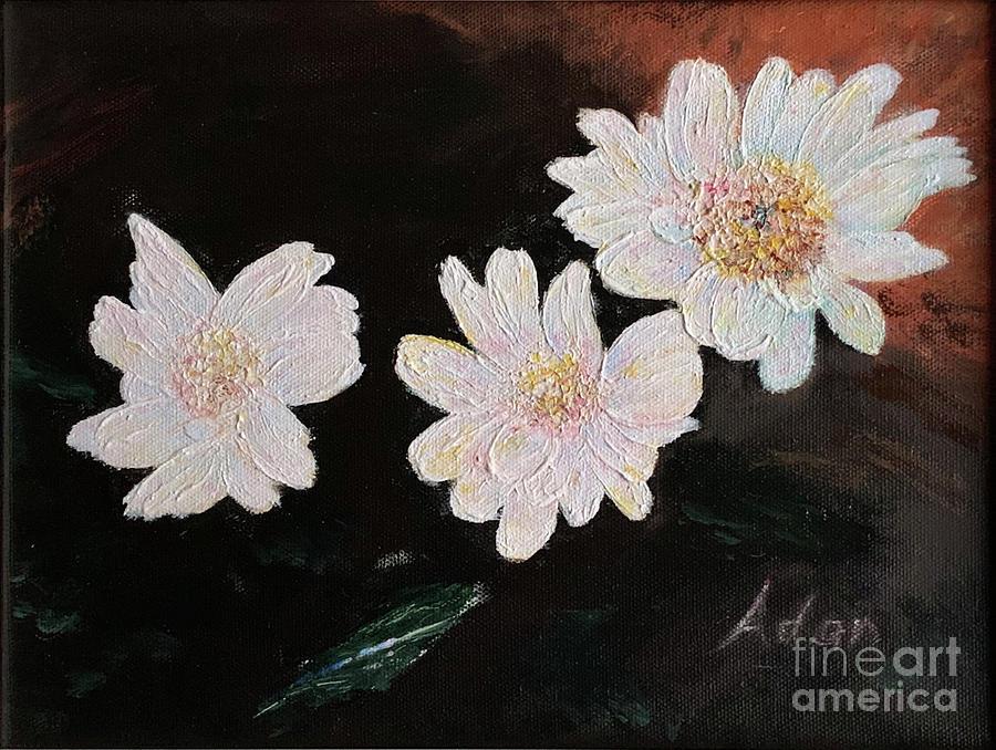 Pink Painting - Floating Blooms Acrylic Painting by Felipe Adan Lerma