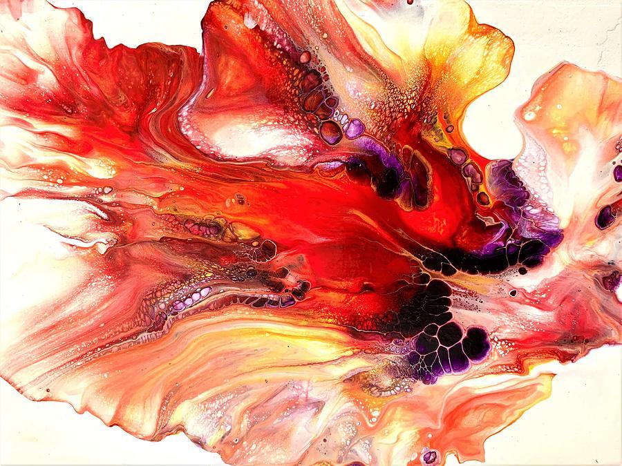 Betta Fish Abstract Painting