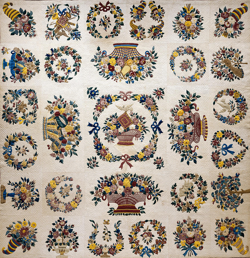 Floral Fabric Vintage Gift Pattern Crown by John Williams