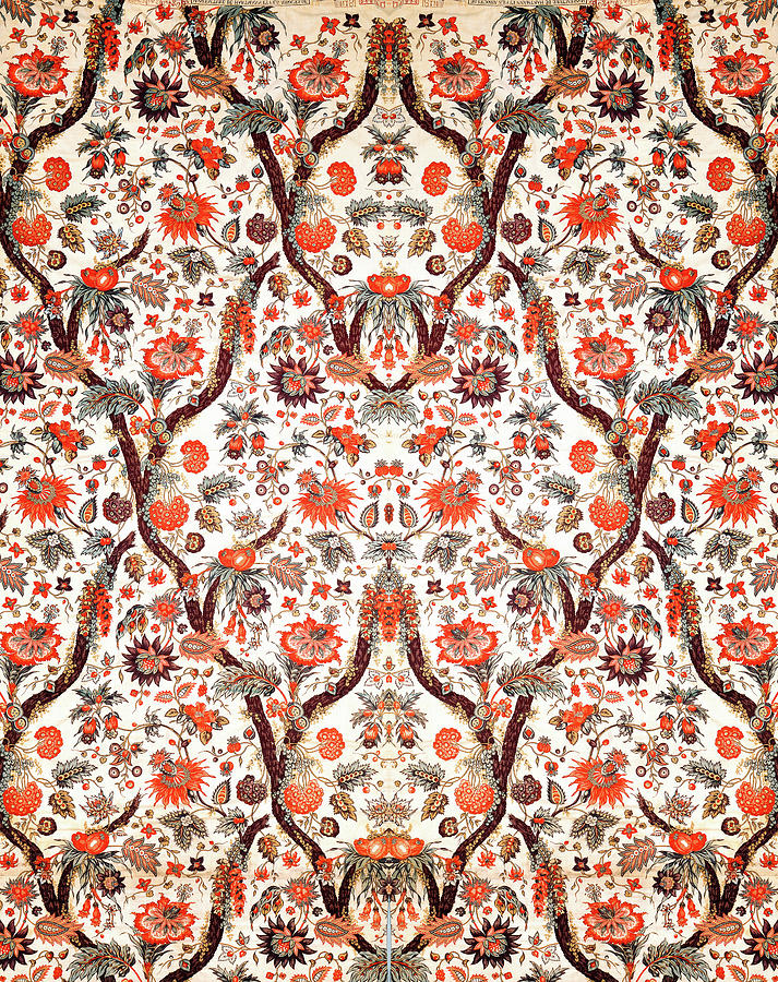 Floral Fabric Vintage Gift Pattern Nature by John Williams