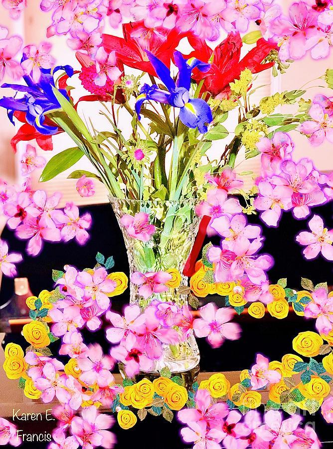 Flowers Digital Art - Floral Fantasia by Karen Francis