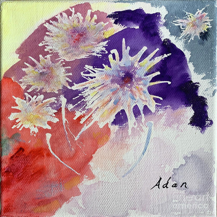Floral Fireworks Painting