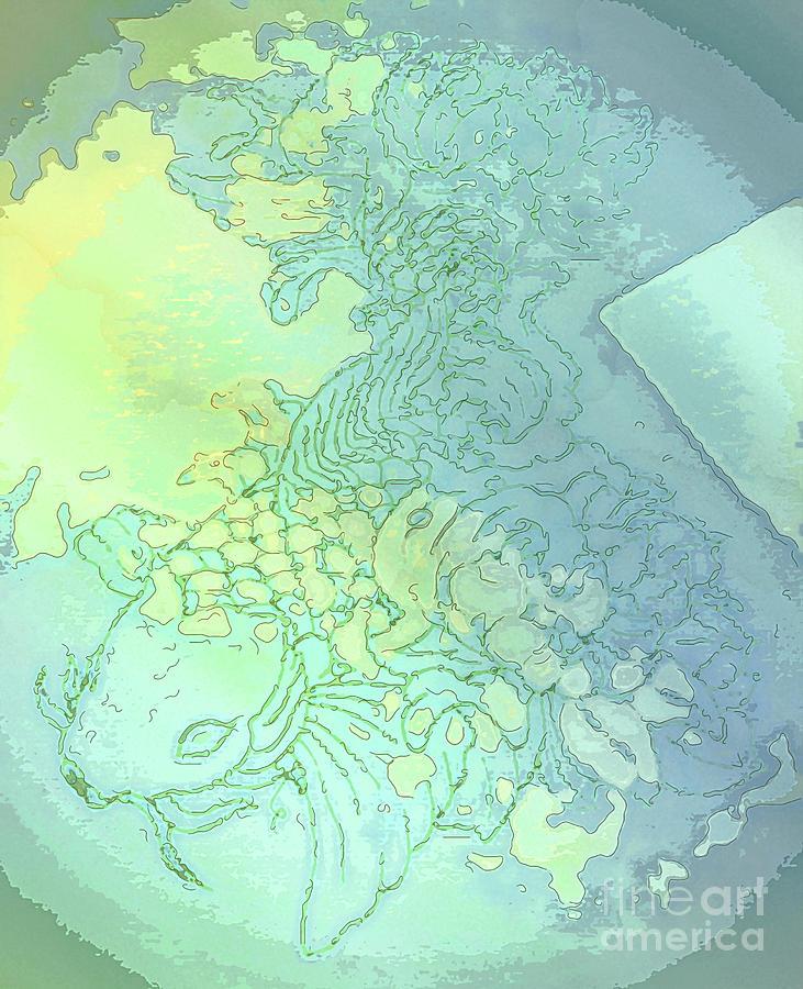 Koi Mixed Media - Floral Koi Embraced by Banyan Ranch Studios