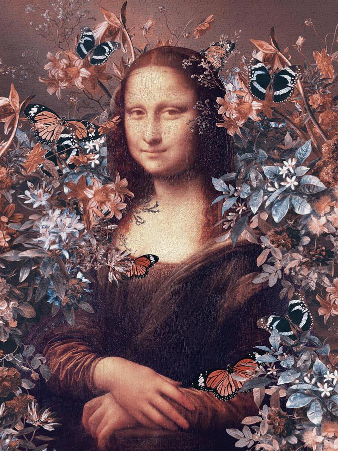 Mona Lisa Digital Art - Floral Mona Lisa  by Mihaela Pater