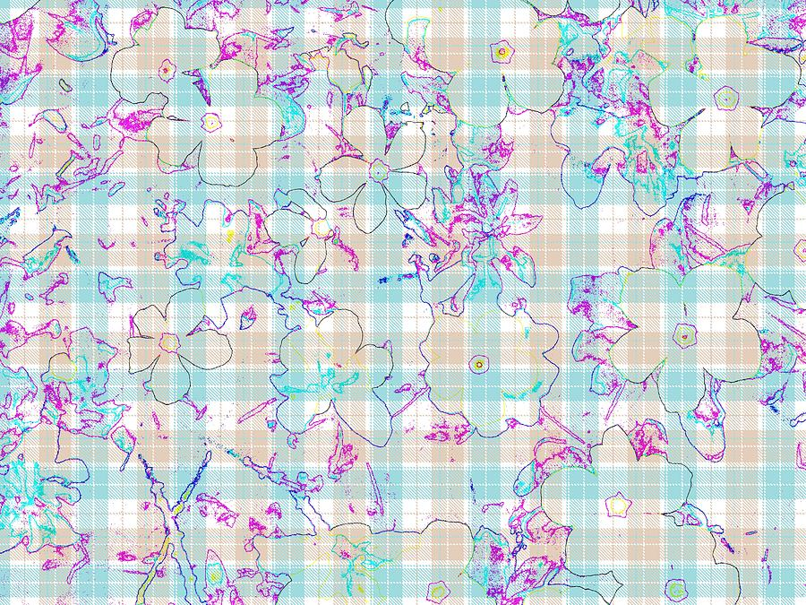 Floral Plaid by Wilma Barnwell