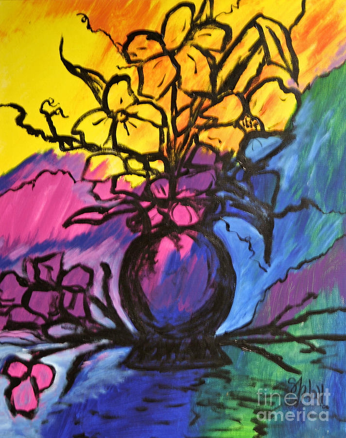 Floral Painting - Floral by Sheila J Hall