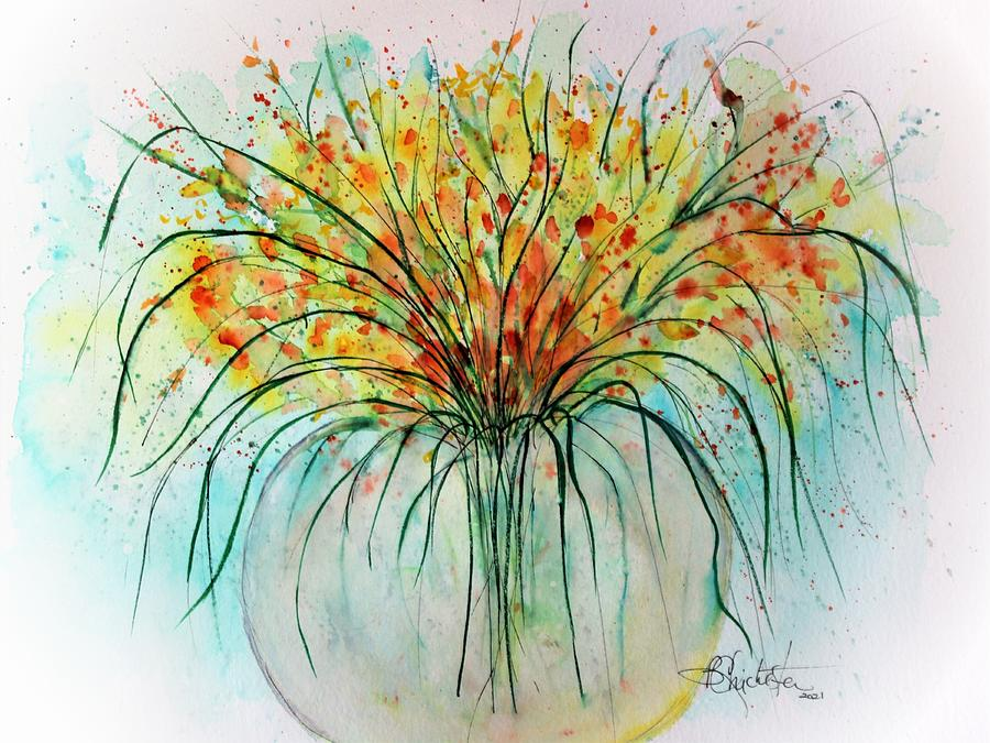 Spray Painting - Floral Spray 2021 by Barbara Chichester