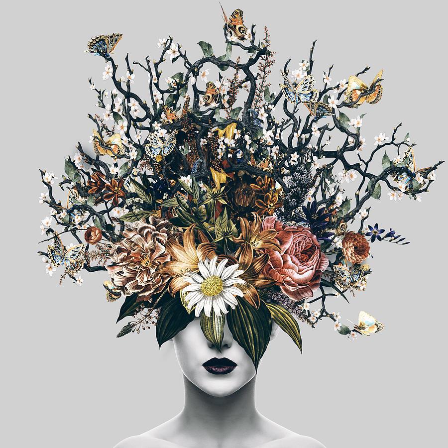 Floral Woman Digital Art