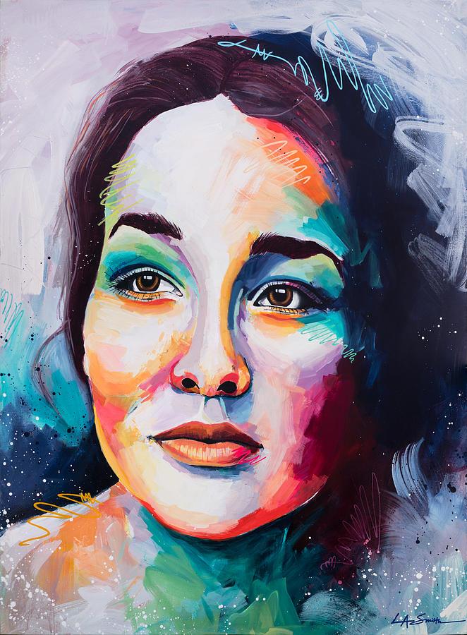 Portrait Painting - Florescence by LA Smith