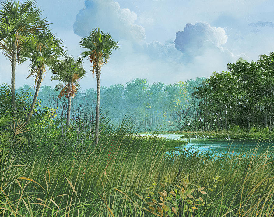 Swamp Painting - Florida Back Country by Mike Brown
