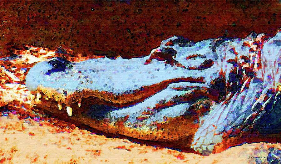 Gator Painting - Florida Gator Art - Sharon Cummings by Sharon Cummings