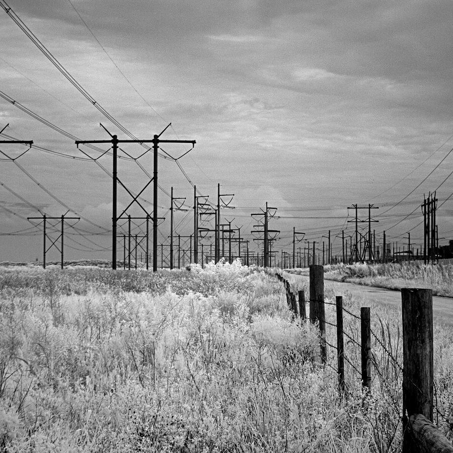Florida Power Lines Ir 0598 Photograph